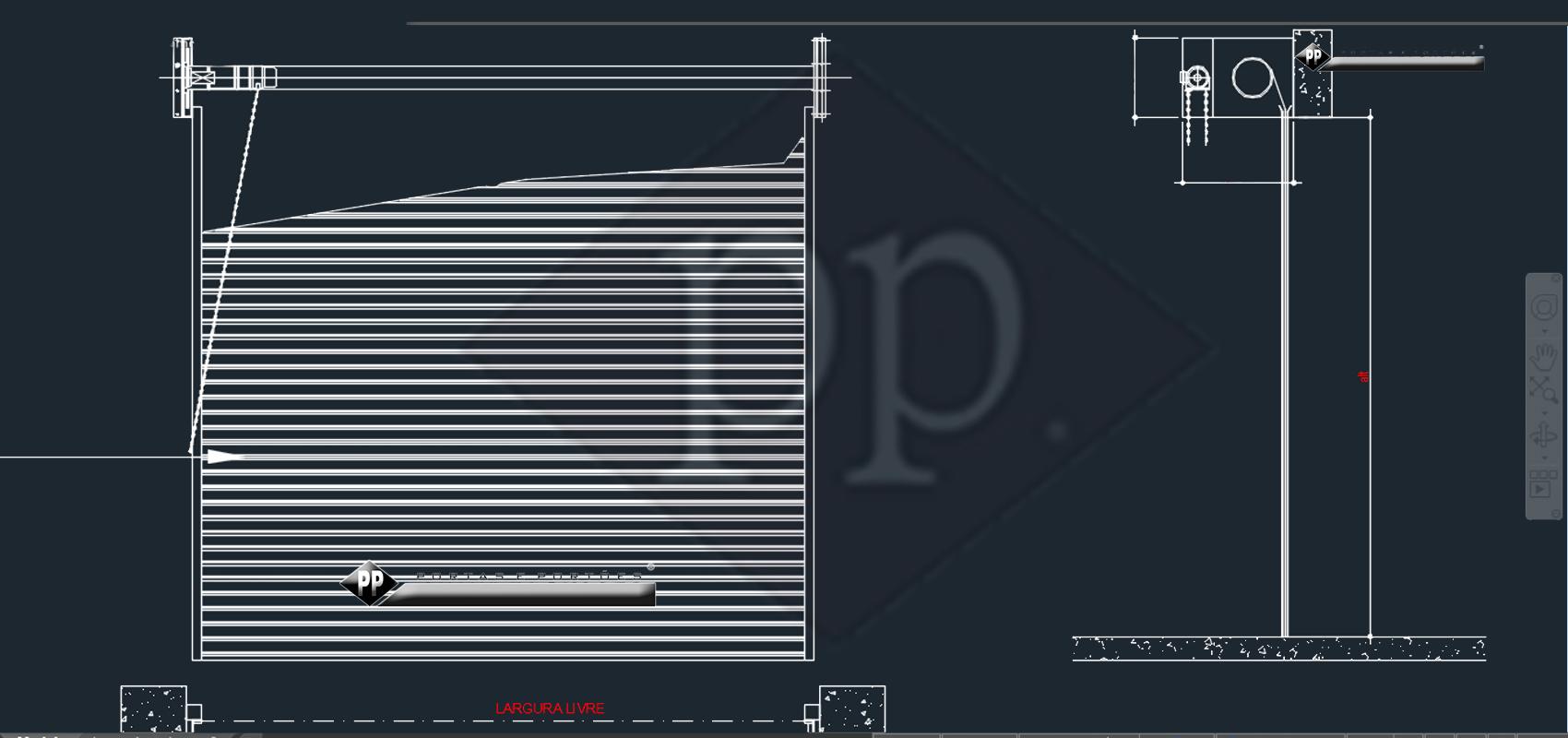 Cad Porta De Enrolar Cad Porta Seccional Dwg Desenho Técnico